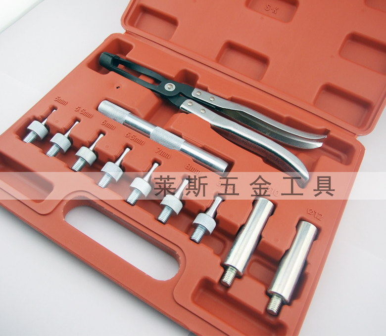 11 sets of valve oil seal assembly and disassembly tool combination valve spring compression and disassembly clamp valve oil seal clamp