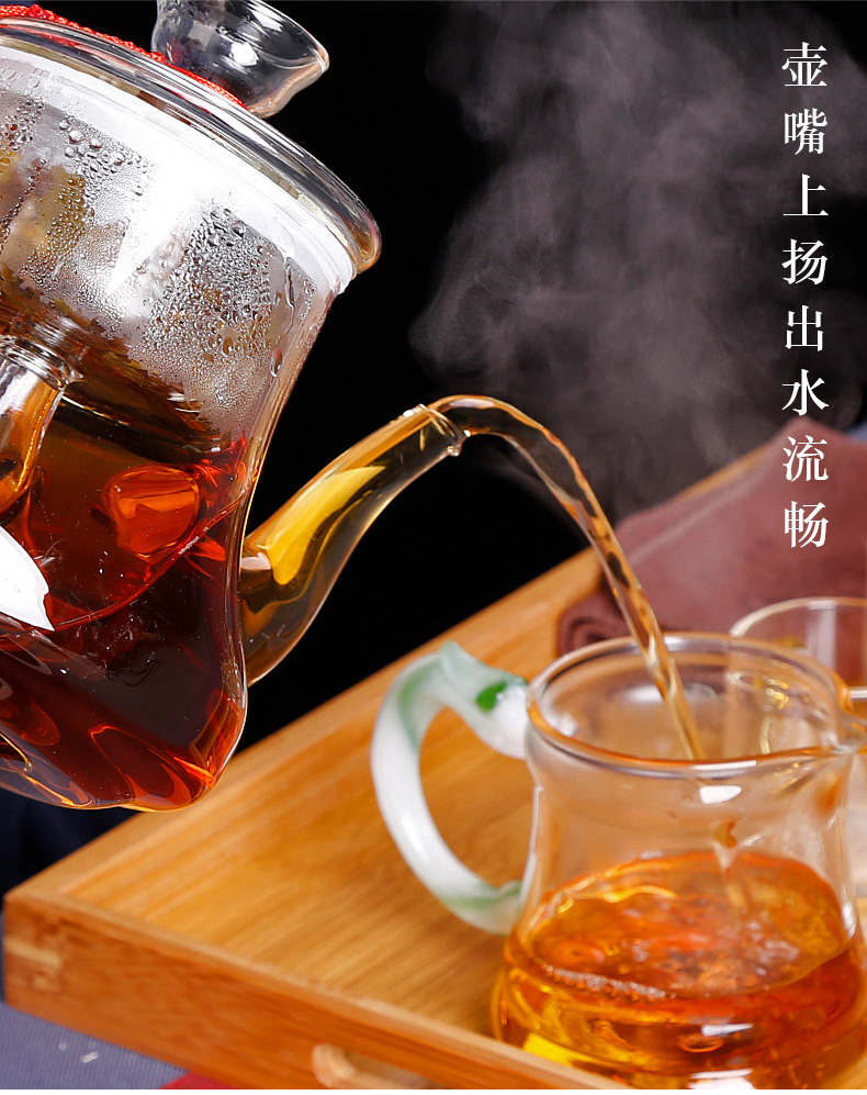 Household'm glass tea set fruit electric heating kettle electrothermal electric TaoLu furnace small cooking tea
