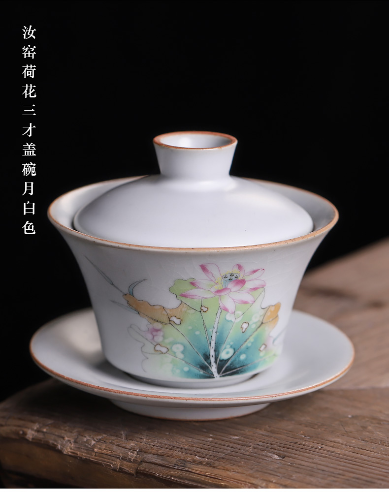 Three tureen can only keep your up with ice to crack a single ceramic glaze kung fu tea set hand - made persimmon tea bowl of small start