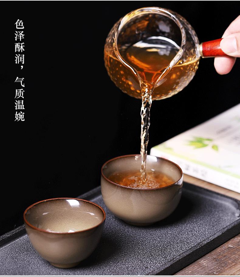 Kung fu tea cup single celadon teacup masters cup household ceramics beakers retro individual Japanese tea cup
