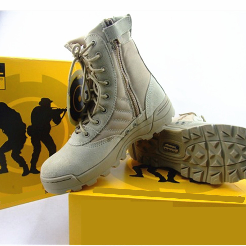 Summer 07 combat boots breathable outdoor hiking boots army boots men's special forces land tactical boots army fan desert