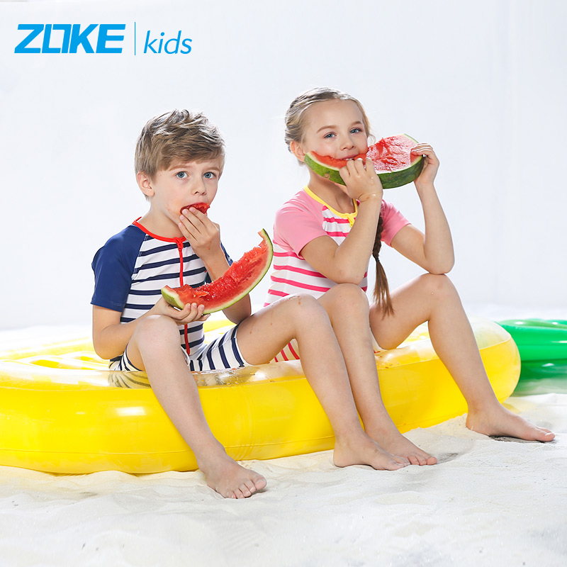 8eeaf1276c Home · Swim · Children's swimwear / pants · 洲克儿童泳衣 Boys conjoined boy in  the big boy sunscreen quick-drying baby