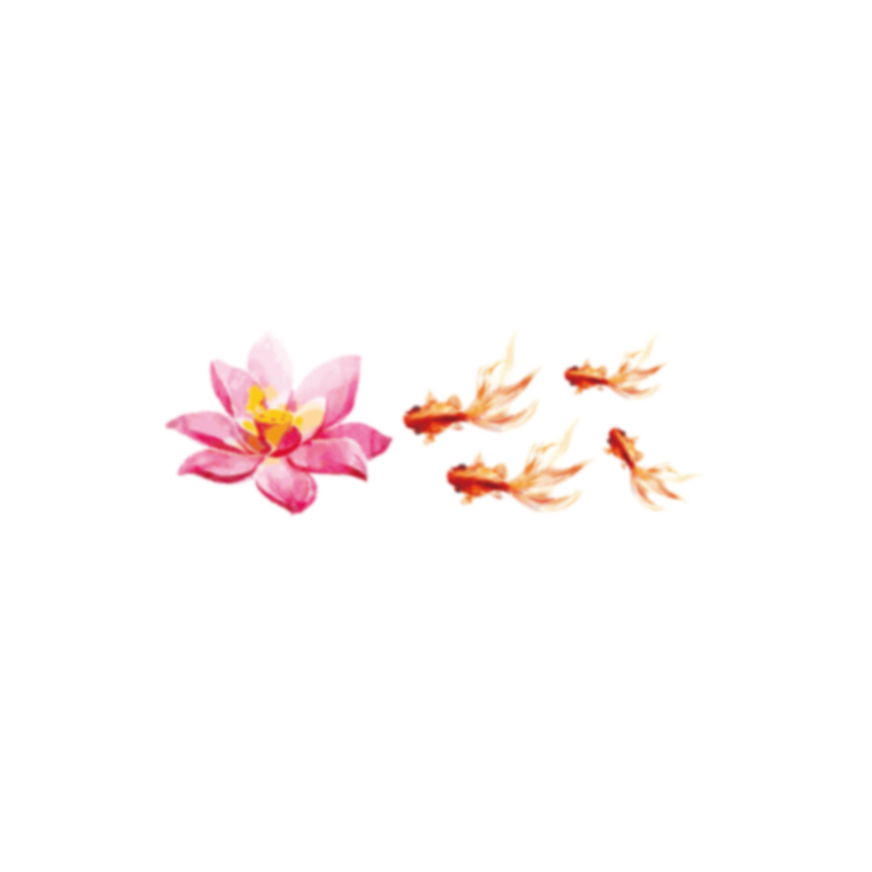 78a65c9222a8d ... Early Mo Original Goldfish Waterproof Tattoo Sticker Female Lasting Sexy  Clavicle Hand-painted Lotus Couple
