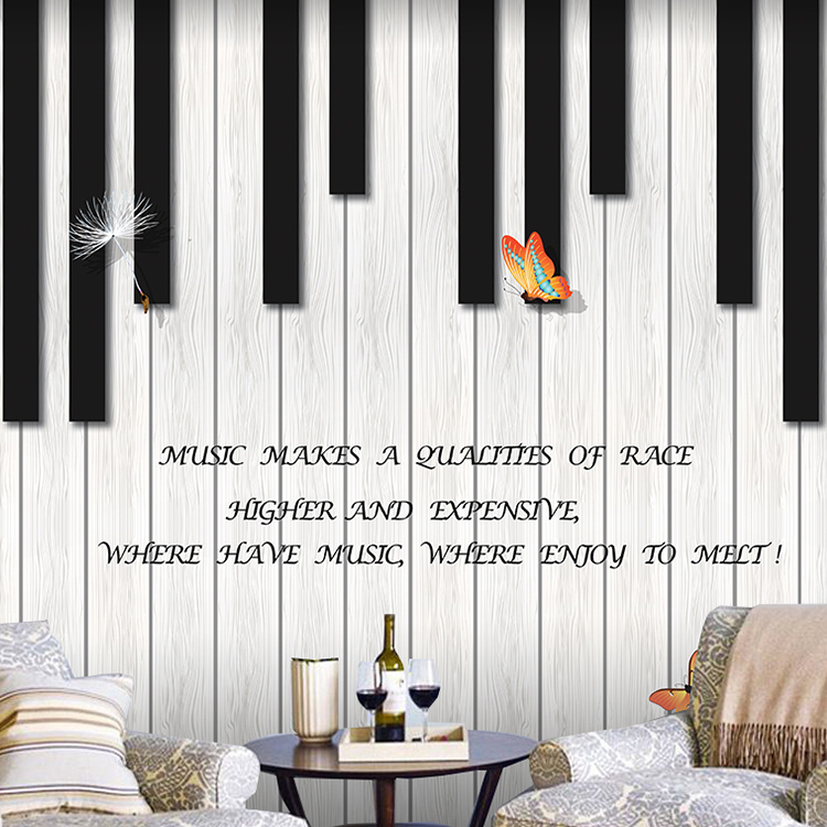 Retro music piano training room wallpaper children dance room wallpaper bar cafe personality mural customization
