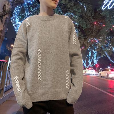 Mùa đông Nhật Bản retro áo len nam dày ấm Hàn Quốc phiên bản của Slim thủy triều sinh viên vài Harajuku phong cách cá tính áo len
