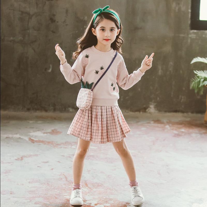 女童春秋小女孩洋气公主裙两件套