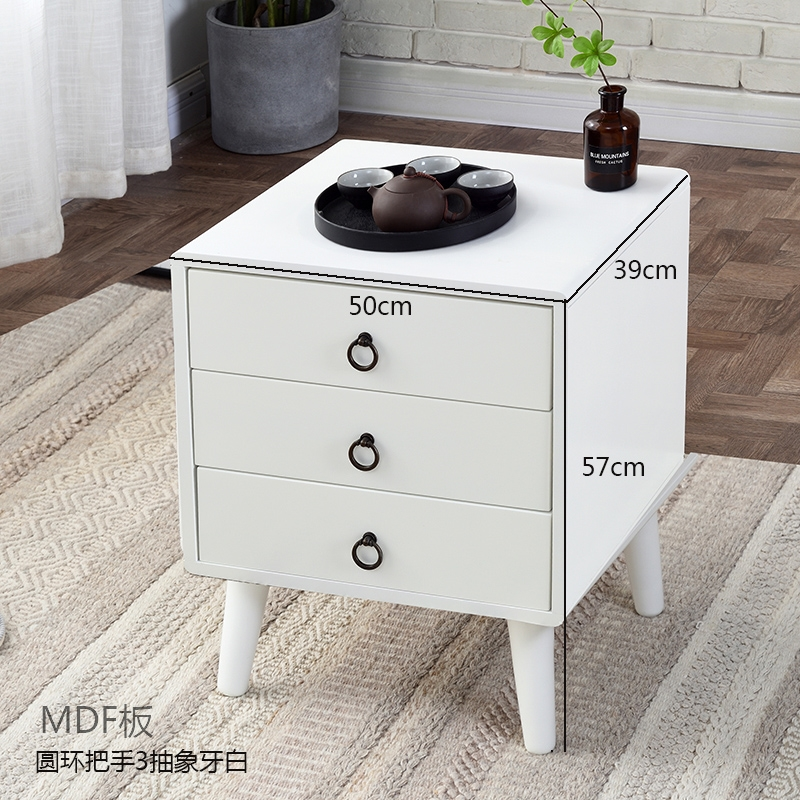 (MDF FRAME) SHORT LEGS THREE ABSTRACT TEETH WHITE