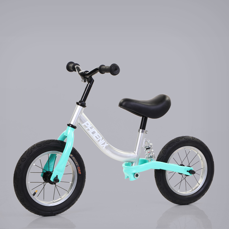 Silver green [high carbon steel frame] shock absorber pneumatic wheel