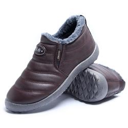 赛格老北京布鞋男爸爸棉鞋冬懒人一脚蹬男鞋加绒中老年休闲鞋淘宝优惠券