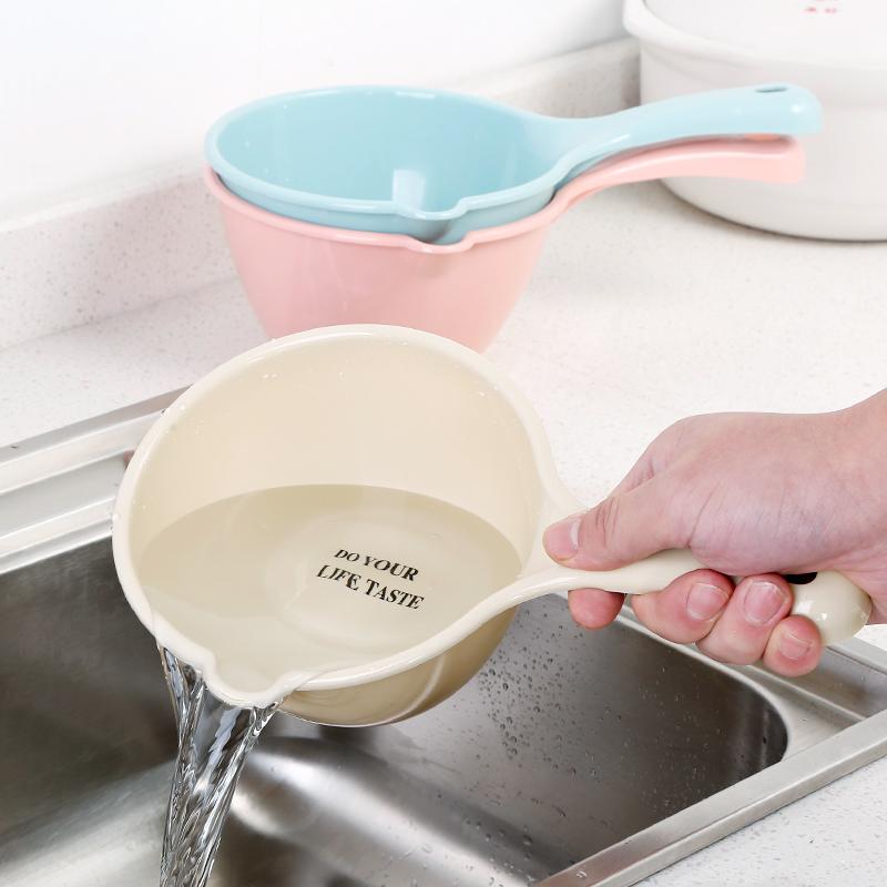 Утепленный Водяной ковш длинная ручка пластиковая водка совок кухня выдра на младенца детские детские Купание, шампунь, чашка для шампуня