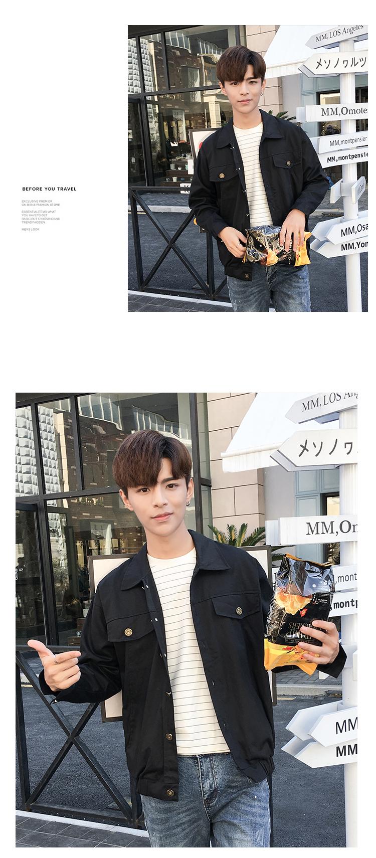 Mùa xuân và mùa thu nam áo khoác áo khoác đồng phục bóng chày thanh niên Hàn Quốc phiên bản của xu hướng giải trí scorpion Slim áo mỏng Nhật Bản