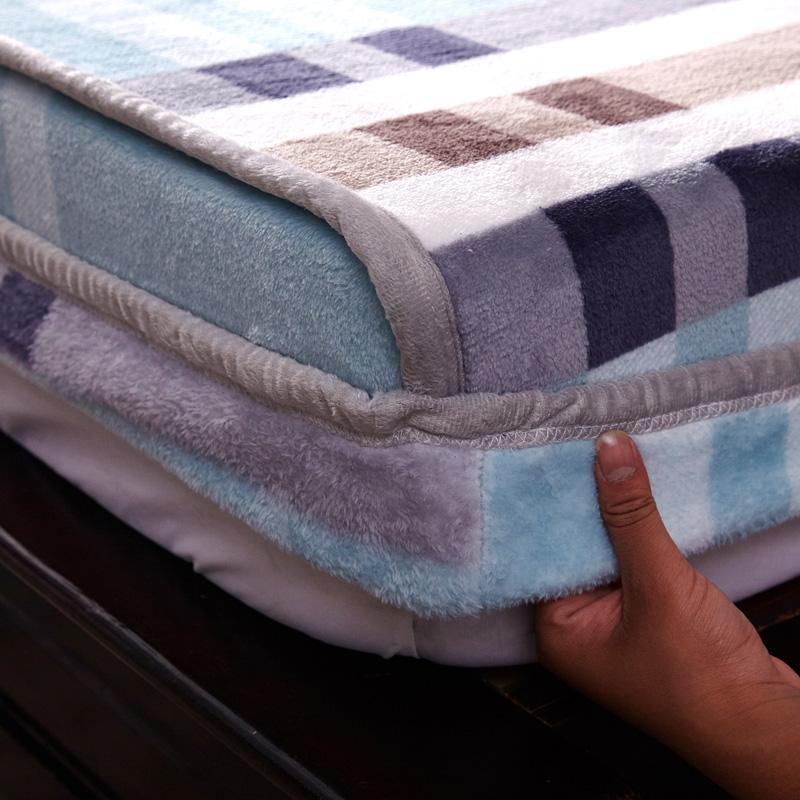 加厚床垫绒床笠单件珊瑚床罩双面法兰绒冬季a床垫席梦思套子保护套