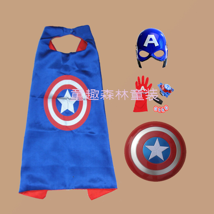 Children's League of Legends Glow Mask Captain America Spider Man Iron Man  gloves wrist launcher toy tide