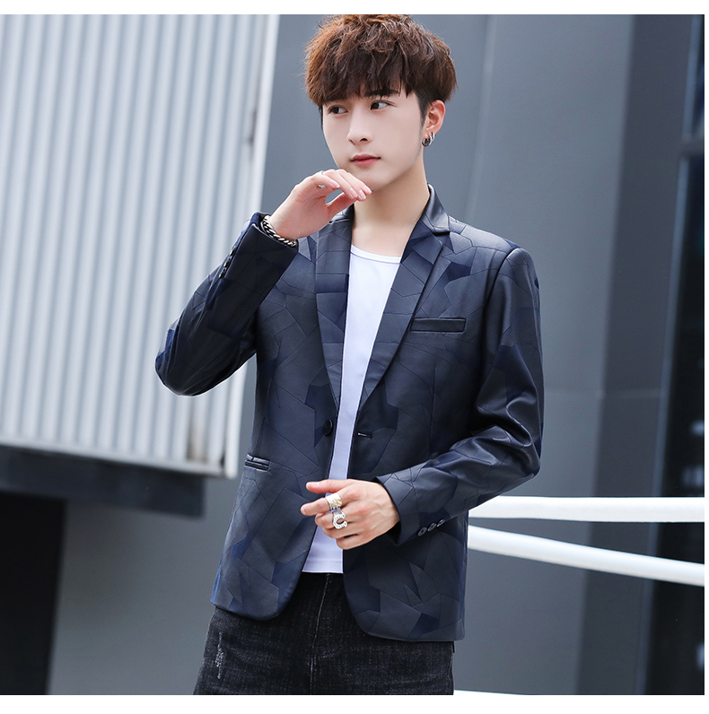 Suit men Korean version slim men casual small suit trend handsome single western coat autumn and winter youth clothes 51 Online shopping Bangladesh