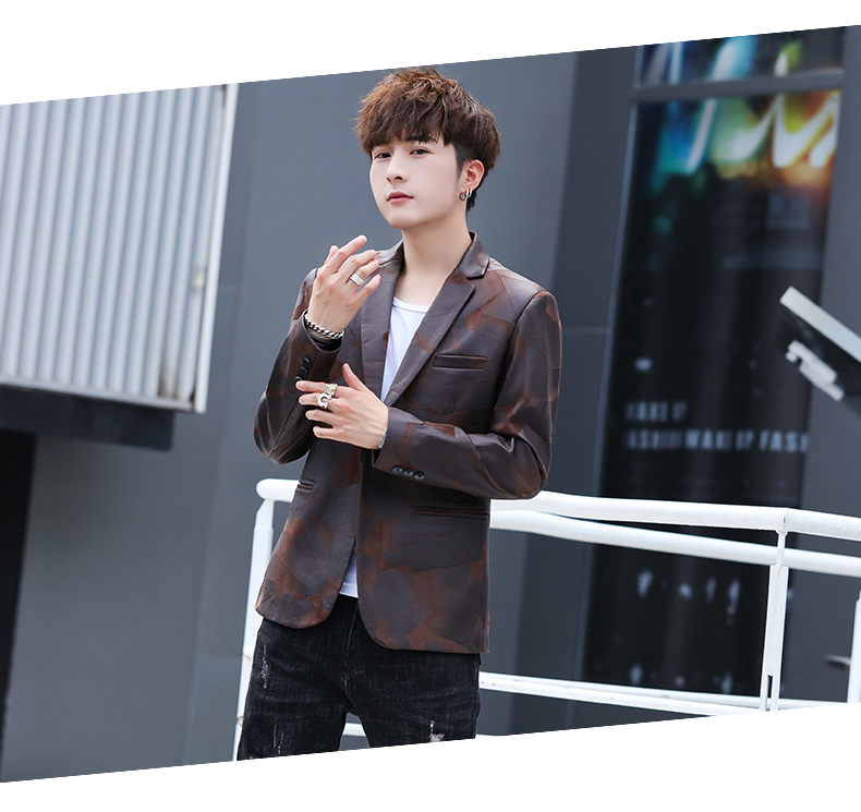 Suit men Korean version slim men casual small suit trend handsome single western coat autumn and winter youth clothes 48 Online shopping Bangladesh