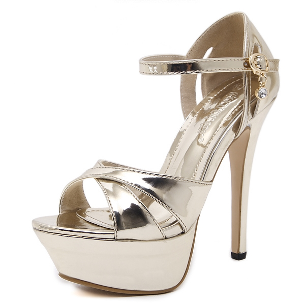 fashion sexy high heel female sandals gold and silver's main photo