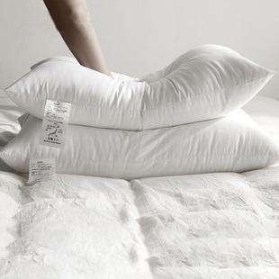 五星级标准羽丝绒枕芯护颈枕一对