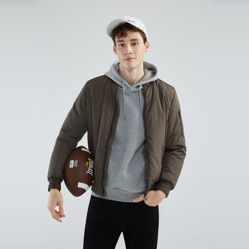 Maxwin 马威 18年冬季新款 休闲素色男式保暖棉服夹克外套  聚划算+天猫优惠券折后¥189包邮(¥269-80)3色可选