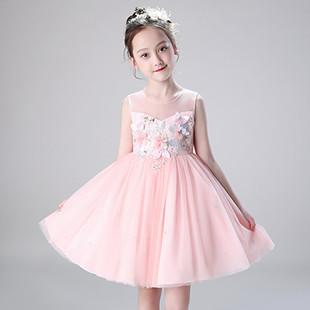 女童超洋气纯棉公主裙蓬蓬纱