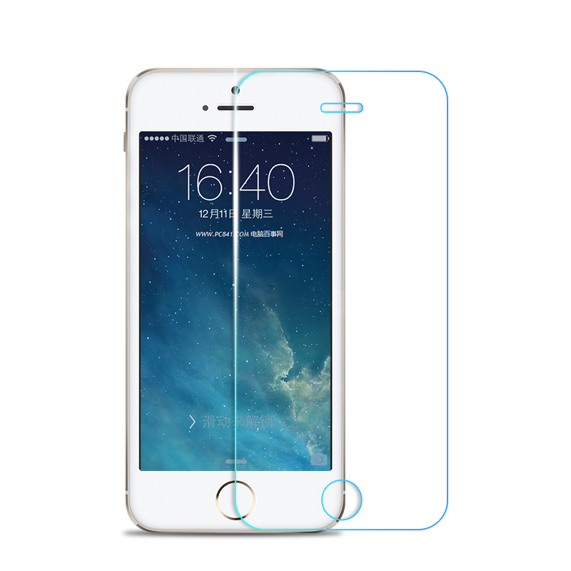 Iphone5s tempered glass film apple 5s mobile phone film 5se high-definition  explosion-proof protective film 5C film
