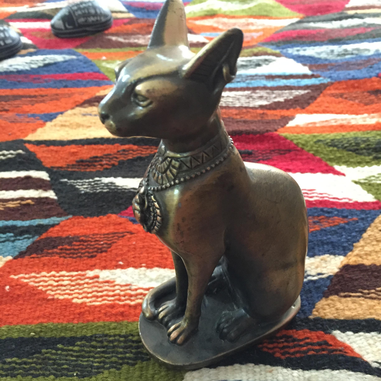 埃及猫神 外面铜皮 装饰品 招财猫 客厅电视柜家居饰品