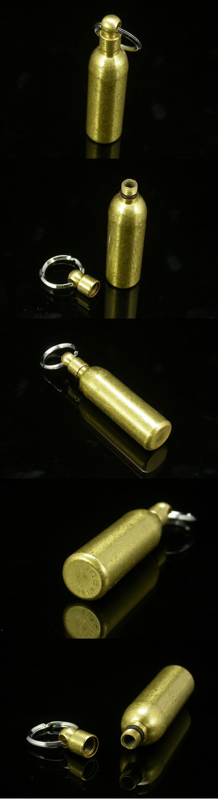 Vintage Brass Copper Mini Fuel bottle Empty bottle Man for lighter Accessory