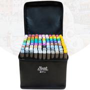卓立touch正品马克笔套装48色60双头绘画36色80软头儿童小学生用24色204全套油性彩色肤色美术动漫专用水彩笔