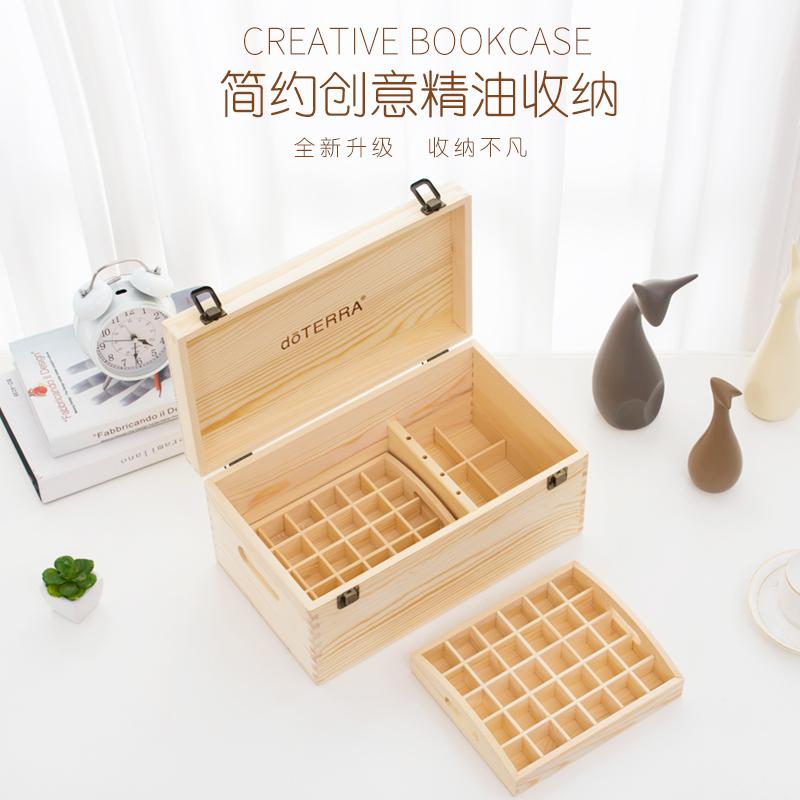 Высококачественный Деревянное эфирное масло DOTERRA Dotray 15ML органайзер небольшой двухслойный 66 коробка для ящиков с деревянным ящиком