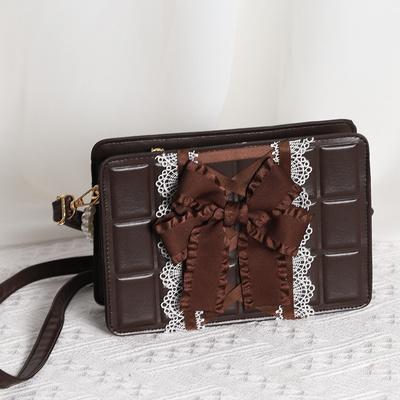 taobao agent Bag 2021 new design sense chocolate fashion handbag messenger bag pearl handbag lolita bag original