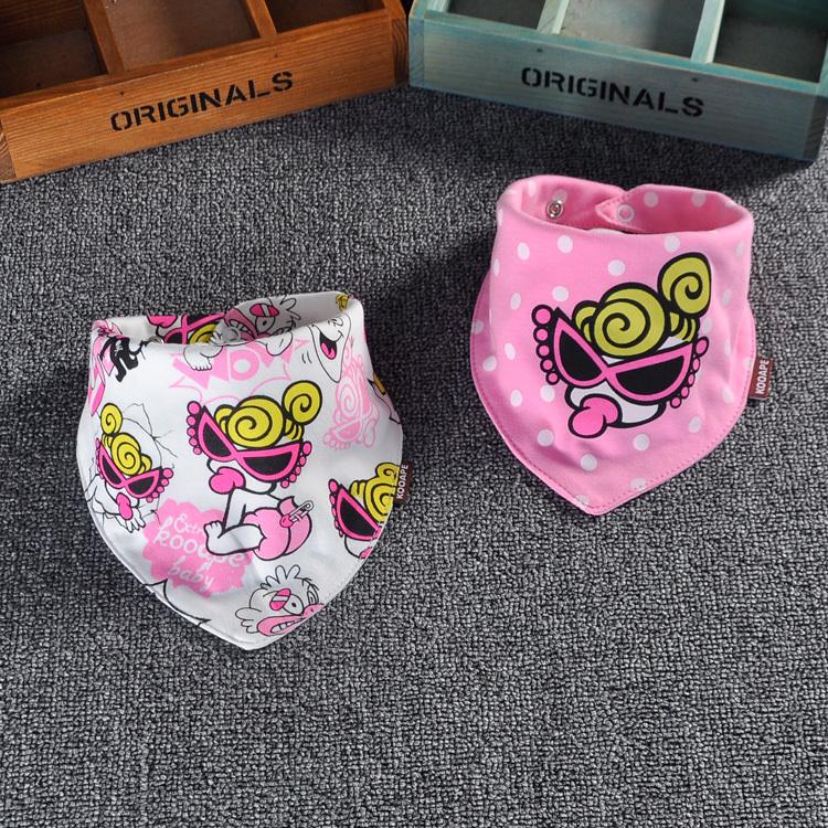 新款潮牌婴儿男女宝宝围兜口水巾儿童卡通纯棉三角巾奶嘴猴子动漫详细照片