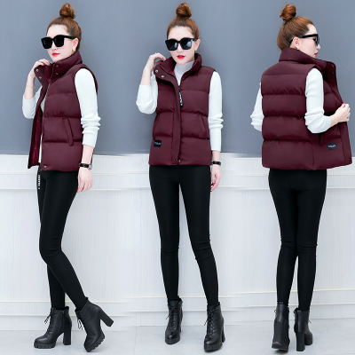Short paragraph cotton women 2017 autumn and winter new Korean version of the vest vest winter women wild cotton coat tide