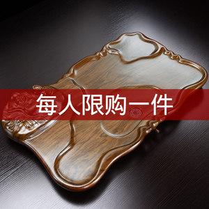 茶盘 实木家用简约现代排水托盘长方形大号创意竹制茶海茶台茶具