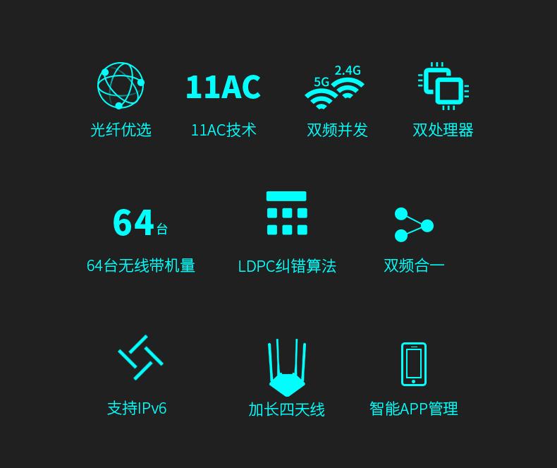 【双频】水星无线路由器家用高速双频千兆速率路由器穿墙王大功率增强百兆端口宿舍学生寝室详细照片
