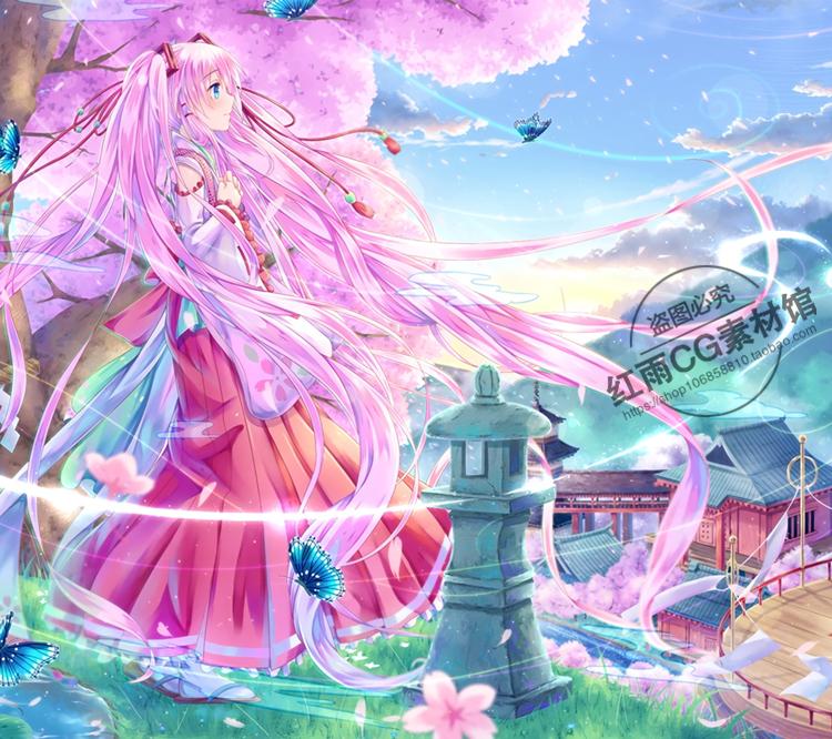 动漫巫女插画游戏CG角色设计素材绘画参考图片人物原画素材资料