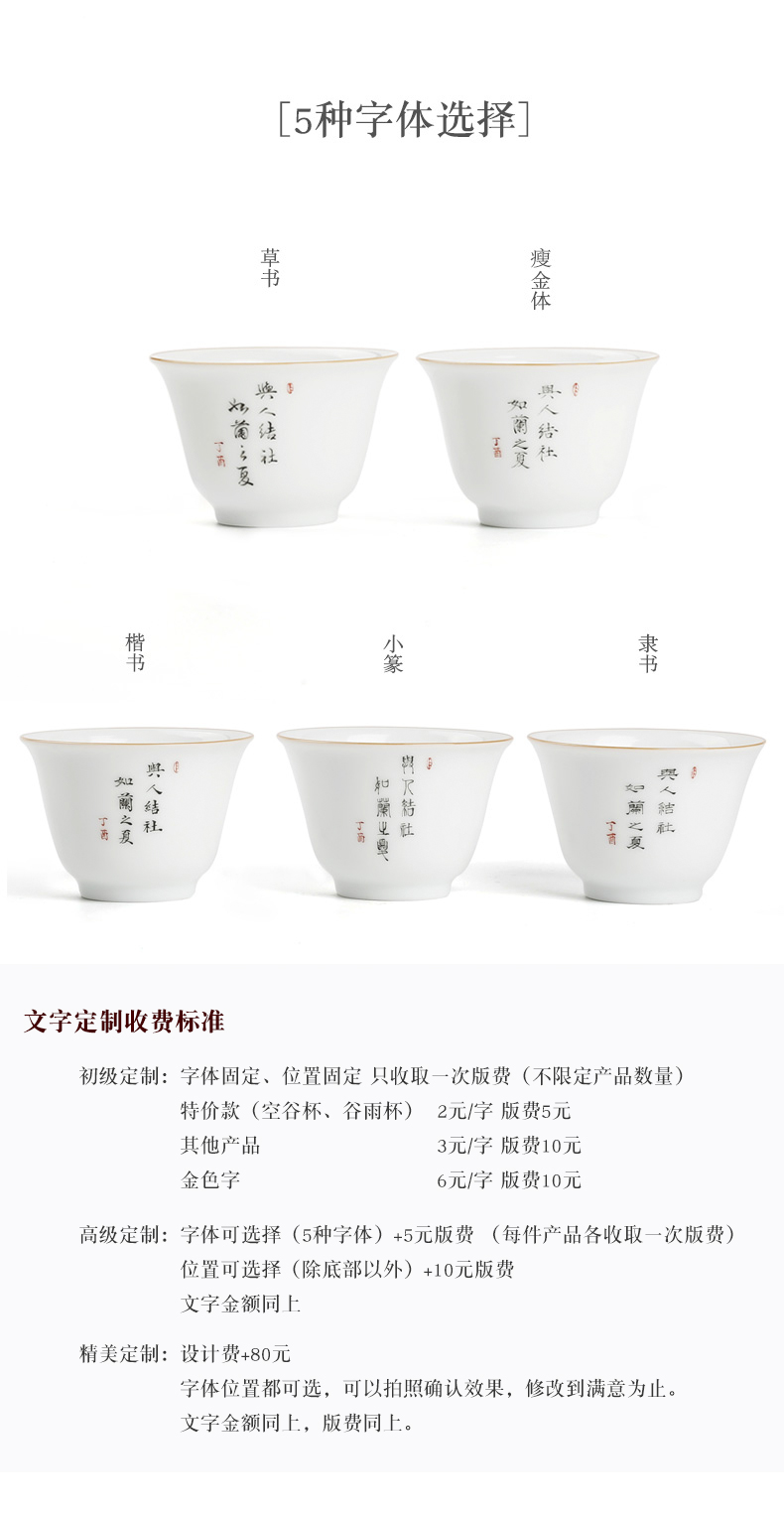 Checking glass hand write creative custom cup three frequently hall jingdezhen ceramic cups cup single CPU S41057 master