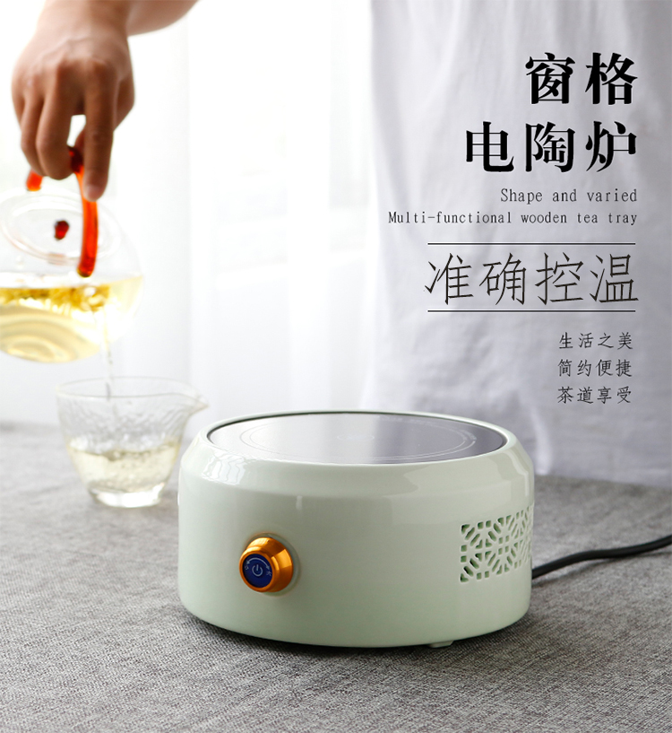 The three regular pane electric TaoLu tea stove jingdezhen ceramic tea set to boil tea kettle tea accessories S81016