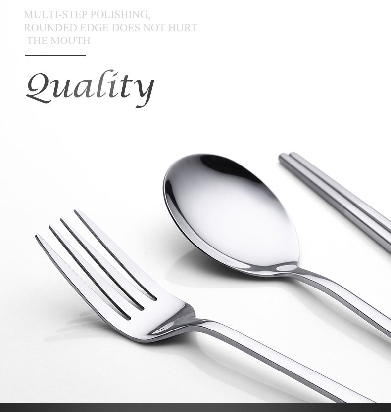 Onlycook304 portable stainless steel tableware chopsticks spoons sets antiskid chopsticks spoons student travel cutlery boxes