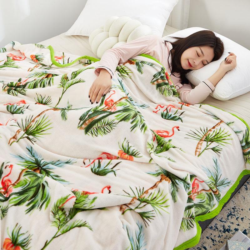 【红磨坊旗舰店】法兰绒珊瑚毯子
