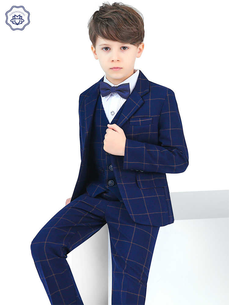 Children's suit suit boy dress in big child flower suit piano performance dress baby small suit spring and autumn