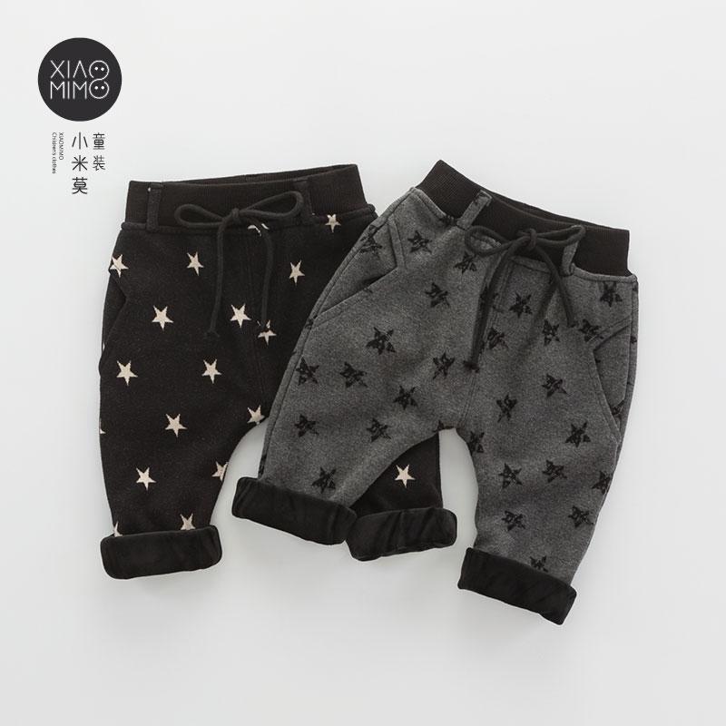 儿童保暖裤宝宝棉裤2017冬新生儿裤子加厚婴儿加绒长裤1-3岁男 潮