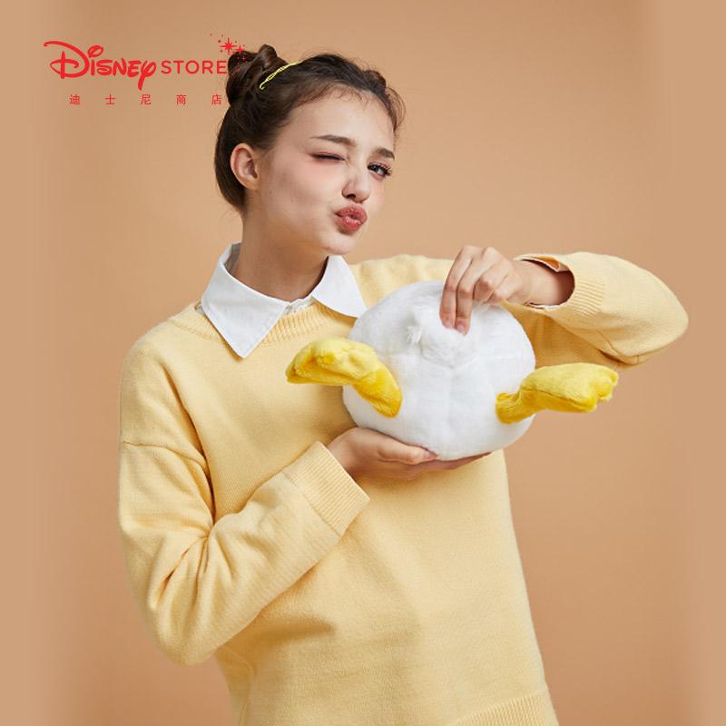 迪士尼时尚 卡通可爱网红奇奇蒂蒂唐★老鸭扭扭包 毛绒单肩斜跨�w包女