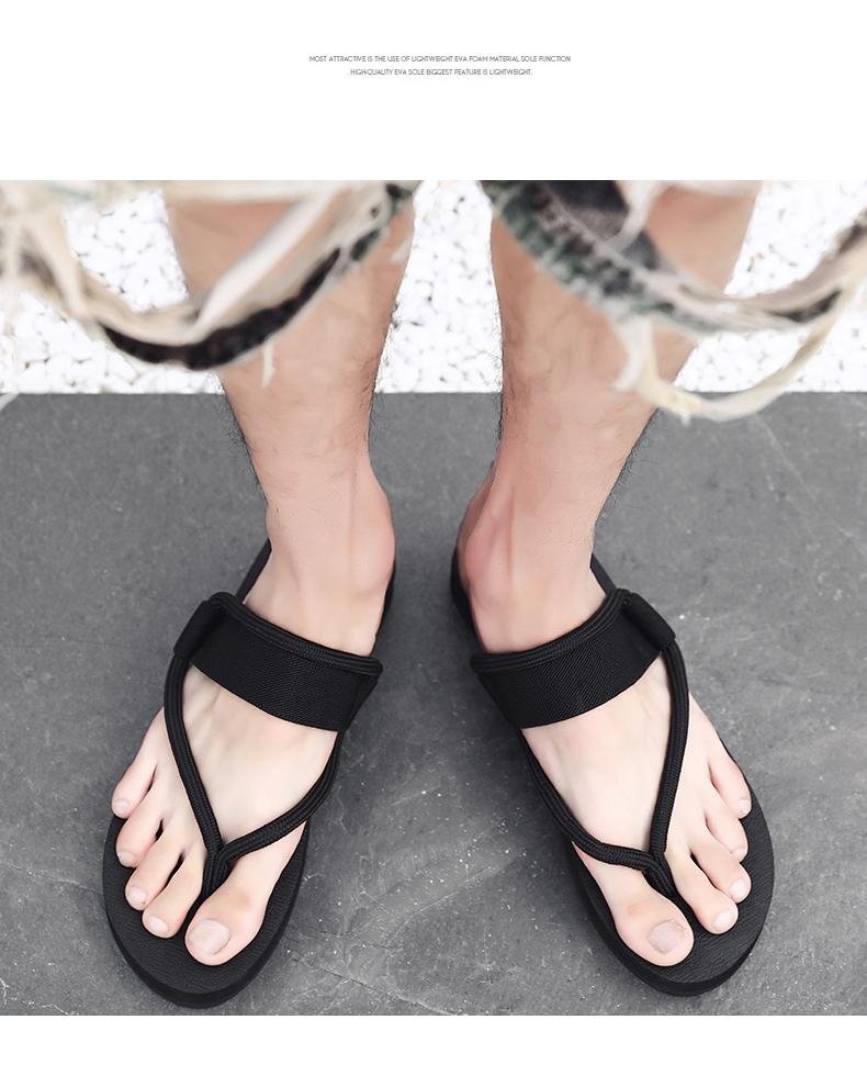 dép dép của nam giới thời trang dép mặc ngoài 2020 mới của Hàn Quốc phiên bản của nhân cách kép dép triều bãi biển