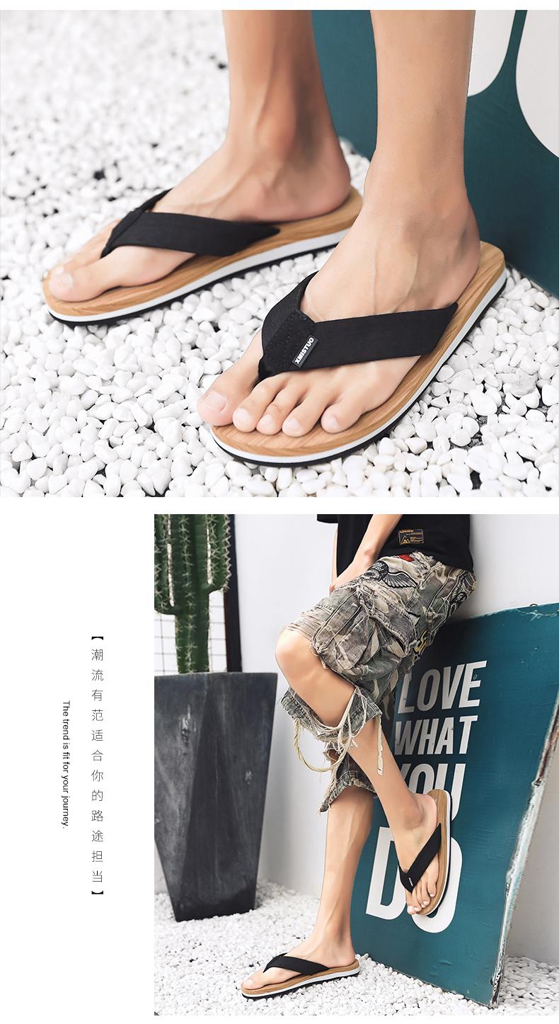 Mùa hè flip-flops bên ngoài quần áo nam thời trang xu hướng tính cách kẹp chân dưới không trượt dép bãi biển ngoài trời nhẹ nhàng và dép đi trong nhà