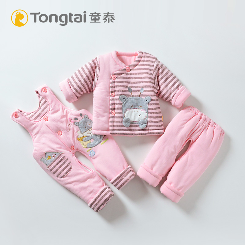 cd459b934 USD 39.40  Tong Tai baby cotton bib three-piece cotton newborn open ...