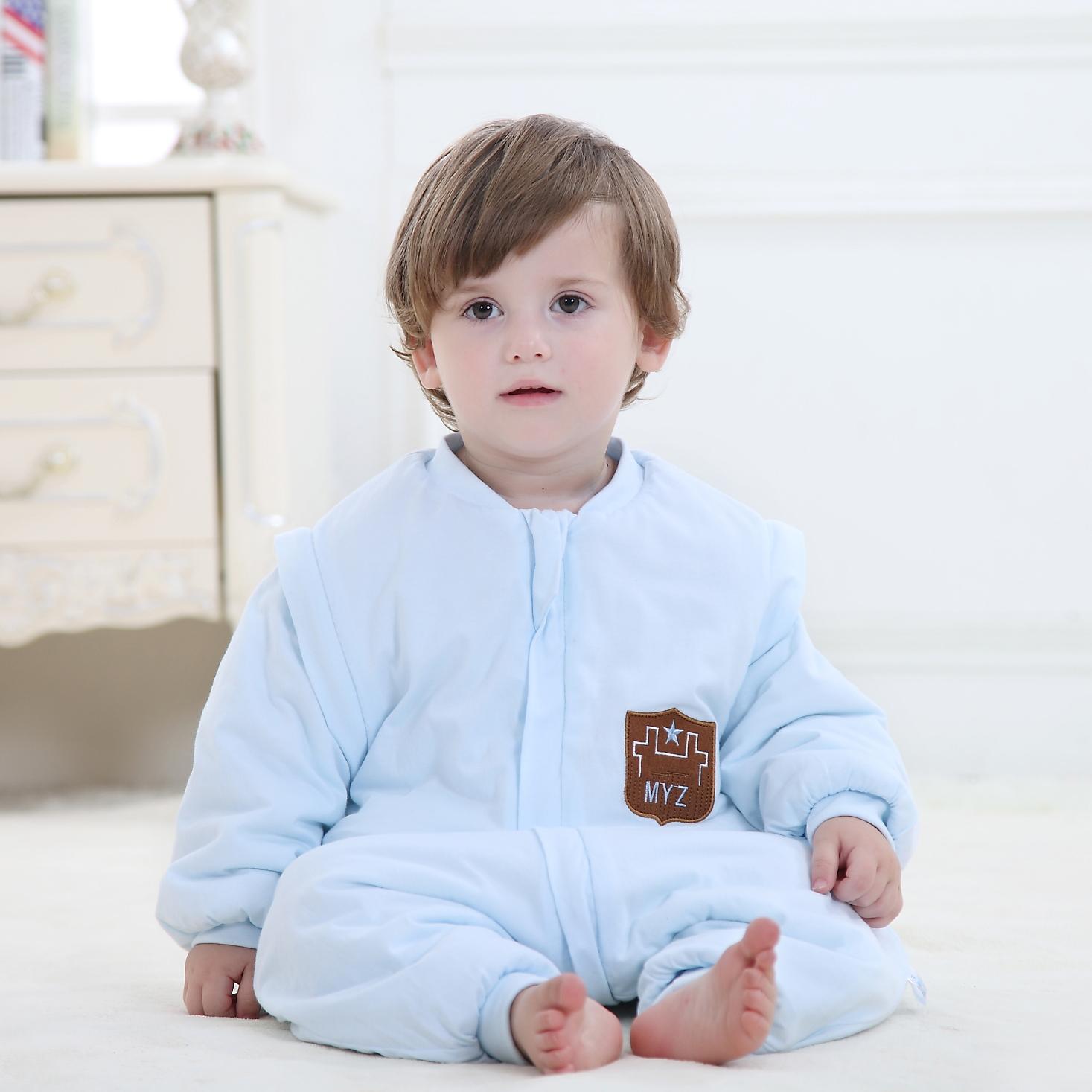 婴儿分腿式秋季儿童睡袋纯棉睡衣
