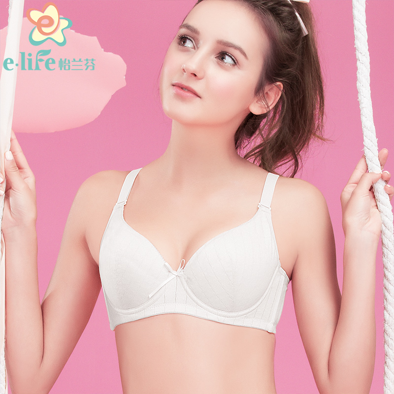 60ecd821314 Yilanfen sweet solid color girl bra thin section cotton student underwear  large size development period high school students bra