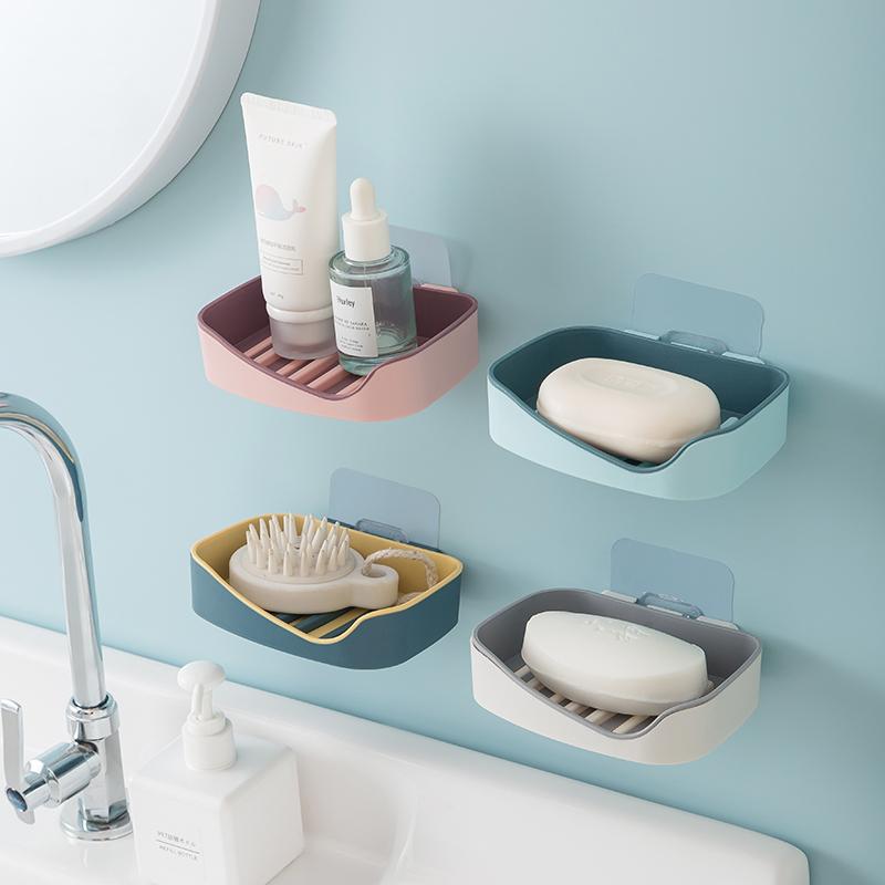 【居家必备】沥水肥皂盒卫生间免打孔香皂盒