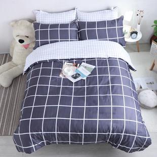 学生宿舍床上用品三件套床单被套