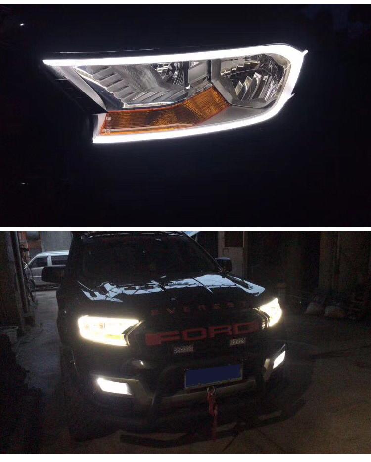 Viền đèn pha có LED Ford Everest , Ranger 2016-2019 - ảnh 5