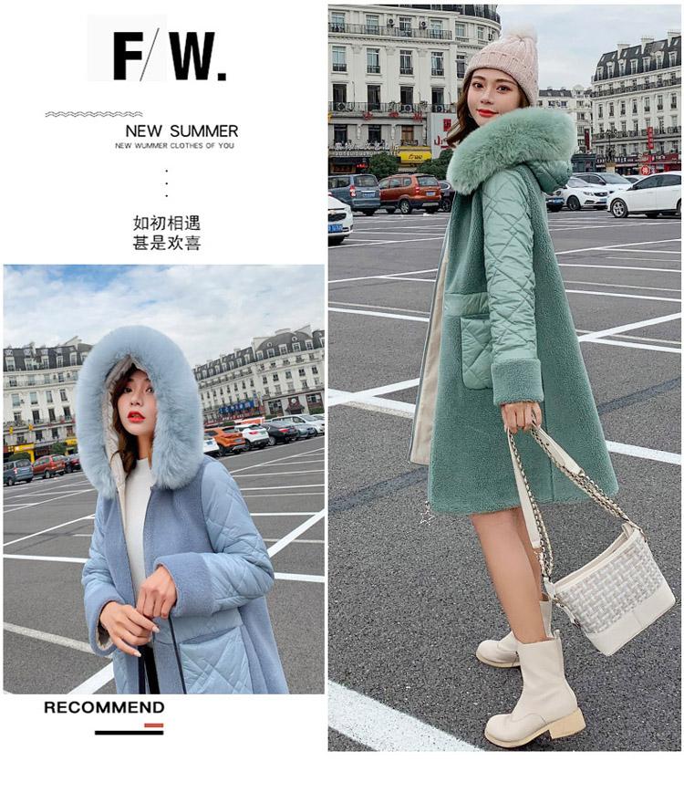 Deep degree 2020 autumn dress new large size women's autumn fashion luxury fur all-in-one jacket 9V9 43 Online shopping Bangladesh